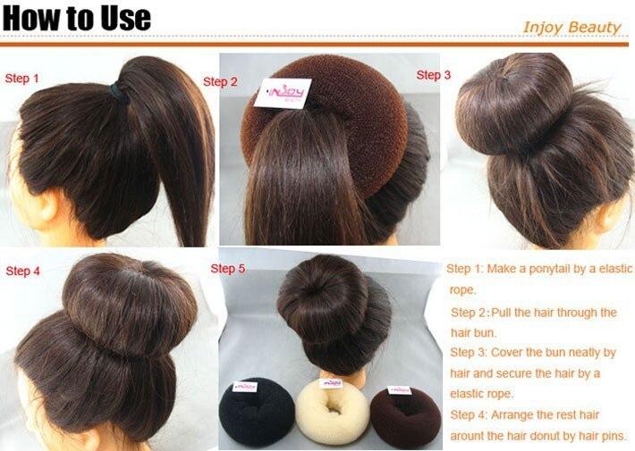 Купить с кэшбэком Hot Fast braided hair Big hair clips barber Modeling tool 14CM 3-Color princess donuts  hair clip brush curler Free Shipping