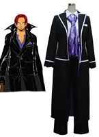 S 3XL Hot One Piece Anime Cosplay Halloween Red Haired Shanks Cos Man Woman Cosplay Costume coat+shirt+pants+tie