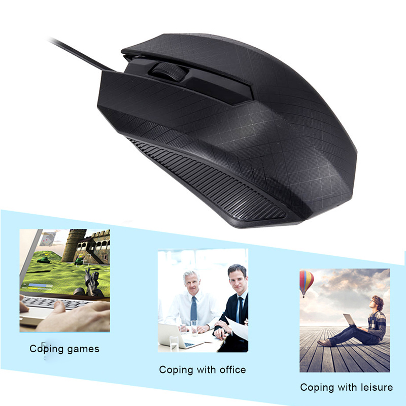 Etmakit 3000DPI Gaming Mouse Optical USB Wired Mouse Mice For Computer Laptops Notebook NK-Shopping
