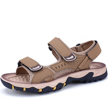 Männer Sandalen Hausschuhe Leder Zapatos Hohe Qualit Alias Rindsleder Sommer Klett Schuhe Im Freien Beiläufigen Wildleder Sandalen