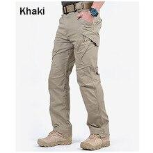 Marca choynsunday tático calças de carga dos homens combate militar do exército multi bolsos estiramento flexível homem calças casuais