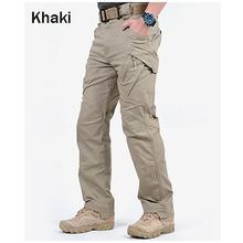 Marka ChoynSunday taktyczne spodnie w stylu cargo mężczyźni bojowe wojskowe spodnie militarne wielu kieszenie Stretch elastyczne mężczyzna spodnie typu casual tanie tanio Pełnej długości Wojskowy A004 Suknem Mieszkanie Poliester Cargo pants Midweight REGULAR Zipper fly Men s Tactical Cargo Pants