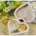 New Arrive Storage Boxes Heart Shape Wood Box Jewelry Box Wedding Gift Home Storage Bin Earrings Ring box 880552