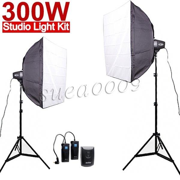 Godox K150A 300Ws 300W 2 150Ws Studio Strobe Photo Light with Softbox RT 16 flash Trigger