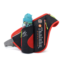 Waterproof Nylon Lightweight Waist Bag Outdoor Running Cycling Sport Bag Trendy Bottle Hiking Fanny Pack With Headphone Hole