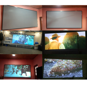Image 2 - AAO Reflective Fabric Projector Screen 60 100 120 130 Inch 16:9 Proyector Screen for XGIMI H1 JMGO YG420 YG500 Projection Screen