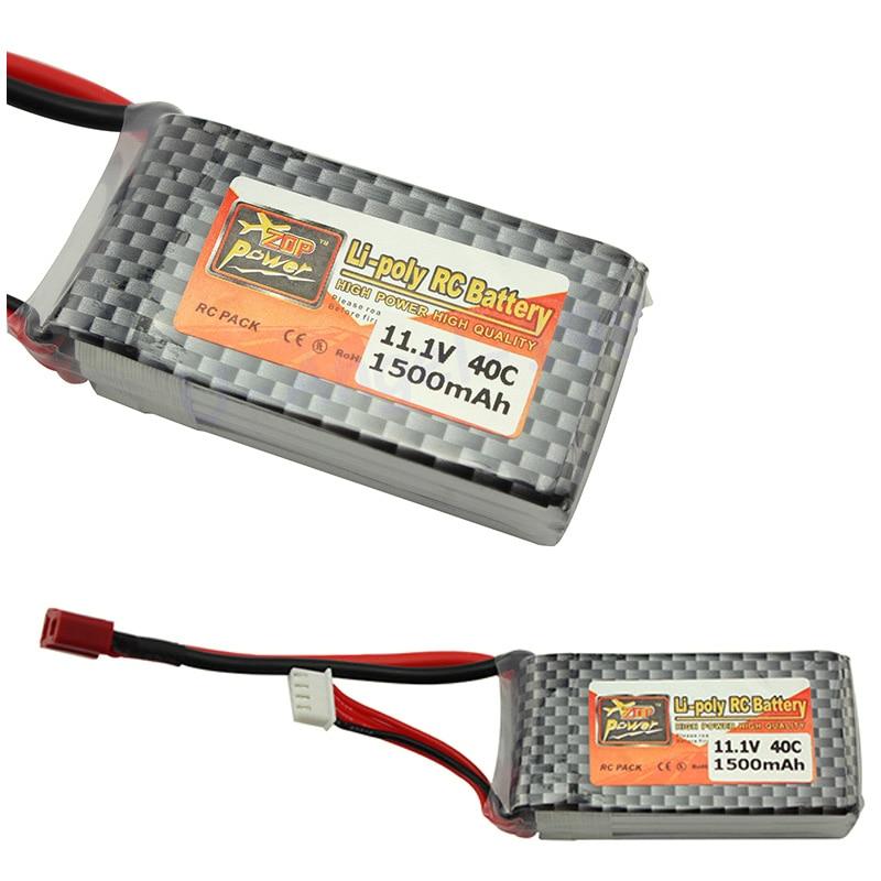 ZOP Power LiPo Battery 11.1V 1500Mah 3S 40C MAX 60C