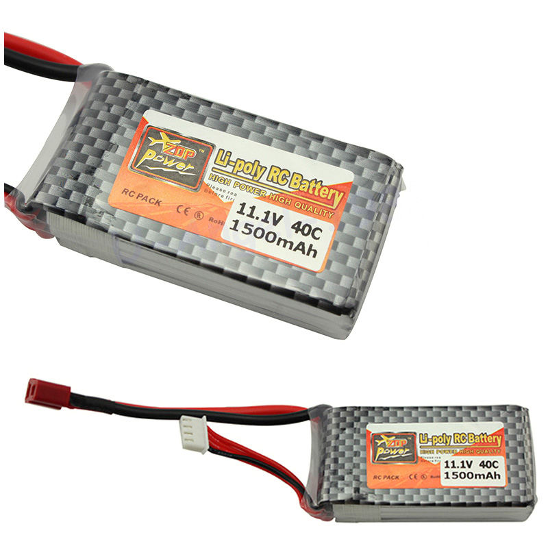 ZOP Power <font><b>LiPo</b></font> Battery 11.1V <font><b>1500Mah</b></font> <font><b>3S</b></font> 40C MAX <font><b>60C</b></font> T Plug For RC Car Airplane Helicopter Part Dropship Wholesale image