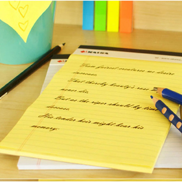 A4 Memo Pad Notepad USA style Legal pad 50 sheets* 2PCS Notebook paper Legal pad Office School Supplies Notebooks Writing Pads