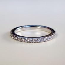 Dossy изделия Три Цвета 0.23Ct синтетических алмазов Обручение обручальное кольцо стерлингового серебра 925 белого золота Цвет кольцо для Для женщин