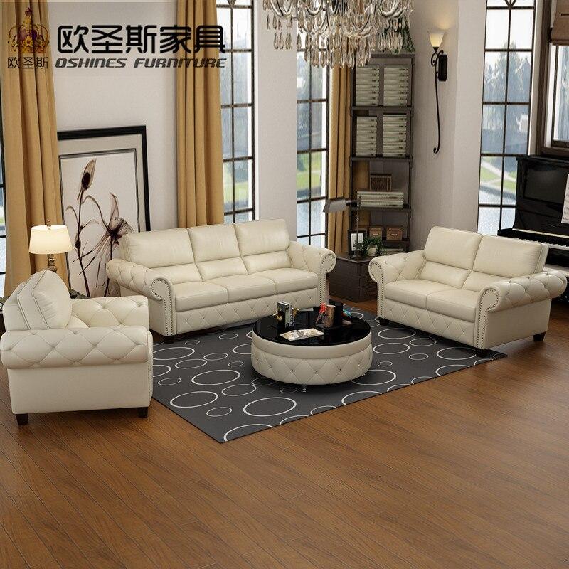 Luxus Neue Klassischen Europäischen Königlichen Sitzgruppe Designs  Amerikanischen Stil Wohnzimmer 3 Sitzer Ledercouchgarnitur Möbel Preisliste  F79A
