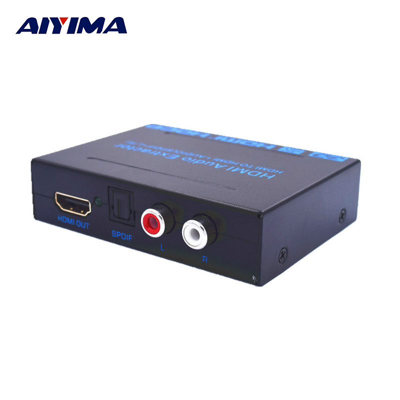 AIYIMA Transmitter Audio Extractor HDMI TO HDMI+AUDIO SPDIF+R/L 4K*2K HDMI HD Converter Signal Modulator 1080P 720P TV Adapter 10pcs 1080p hdmi to hdmi audio video scaler adapter hdmi converter with audio output support 4k 2k
