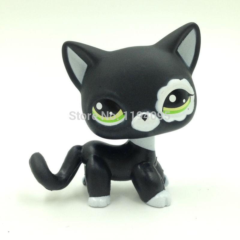 pet font b toys b font Lovely Rare Black Cat Blue Eyes Kitten 2249 Figure
