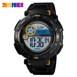 SKMEI 1467 mężczyźni zegarek sportowy do użytku na zewnątrz marka wojskowi odliczanie Alarm zegarek LED 50 M wodoodporny Cyfrowy zegarek montre homme w Zegarki cyfrowe od Zegarki na