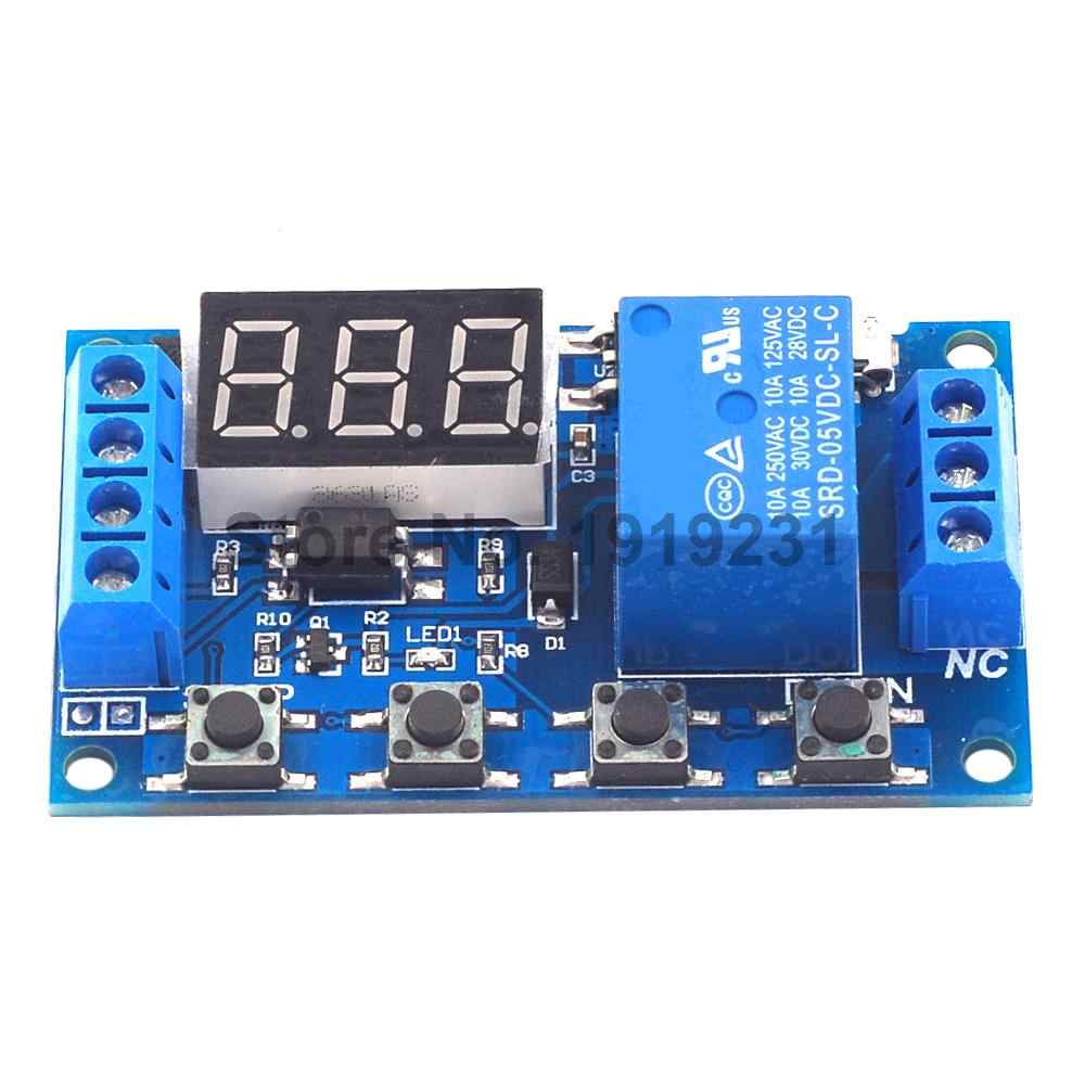 6-30V Relay Module Switch Trigger Time Delay Circuit Timer Cycle Adjustable Micro USB 5V Digital LED