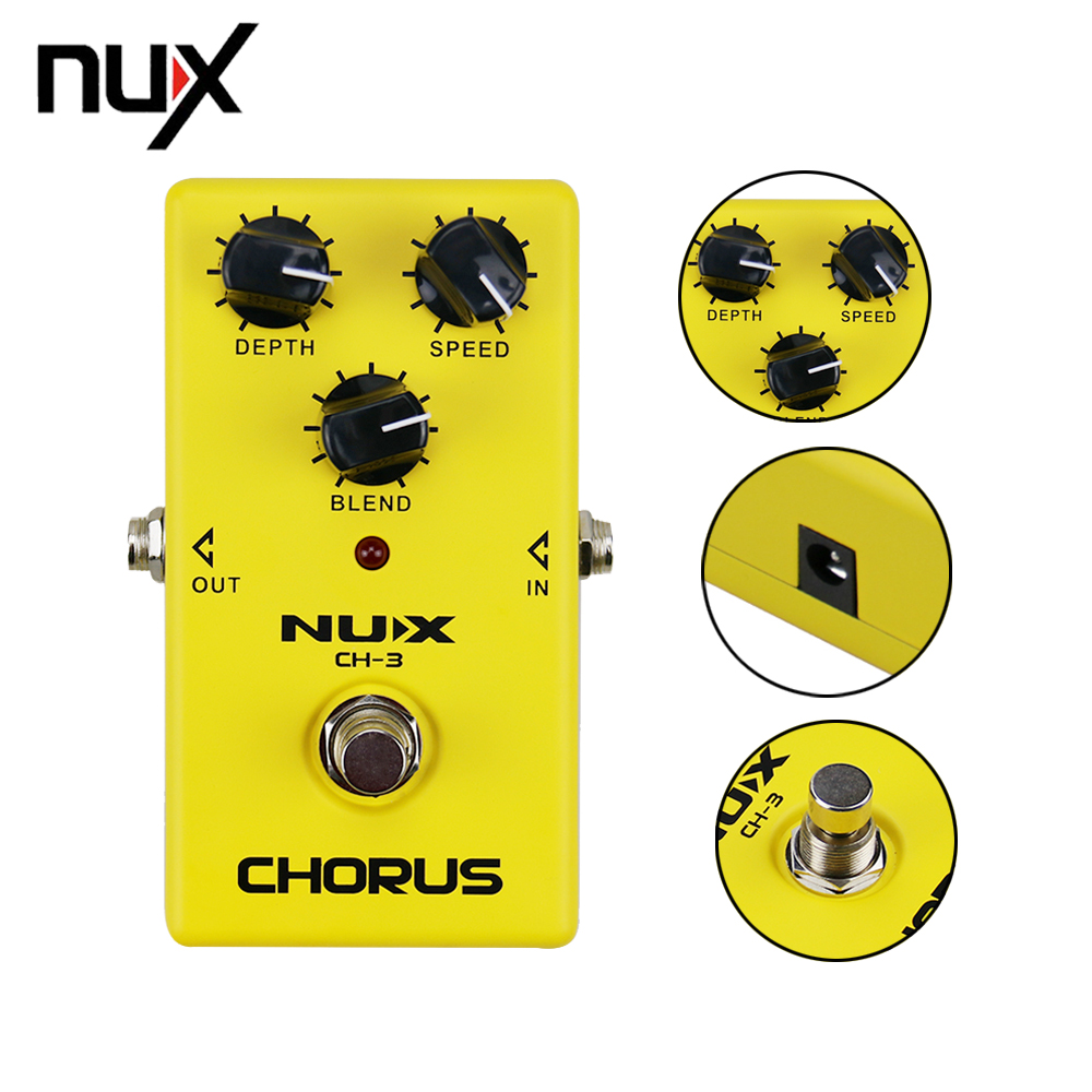 NUX CH-3 Classic Analog Electric Guitar Effect Pedal Chorus Low Noise BBD True Bypass Guitarra Effectors aroma adr 3 dumbler amp simulator guitar effect pedal mini single pedals with true bypass aluminium alloy guitar accessories