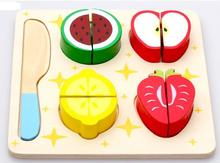 Wooden toys multifunctional fruit puzzle, cut the fruit game, wooden apple
