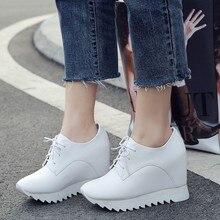 High top Women Casual Shoes Hidden Heels Height Increase 10cm