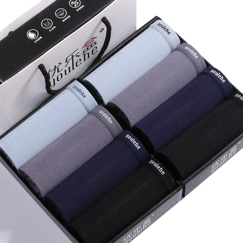 Youlehe Convex Boxer-Shorts Underpants Sexy Male Plus-Size Soft Cuecas 8piece