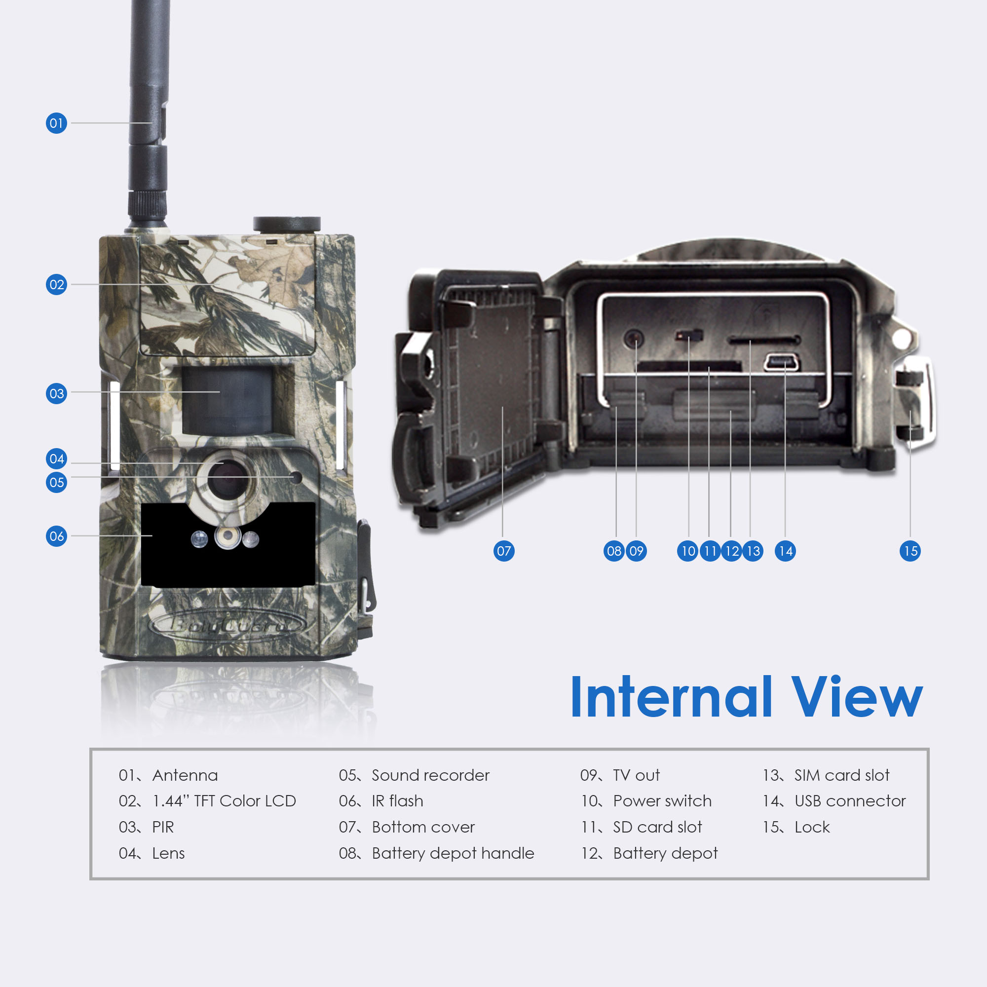 Image 2 - Bolyguard hunting trail camera 3G MMS SMS wildcamera 24M 1080PHD 90ft PIR night vision photo traps Scouting Camera fototrappola-in Hunting Cameras from Sports & Entertainment
