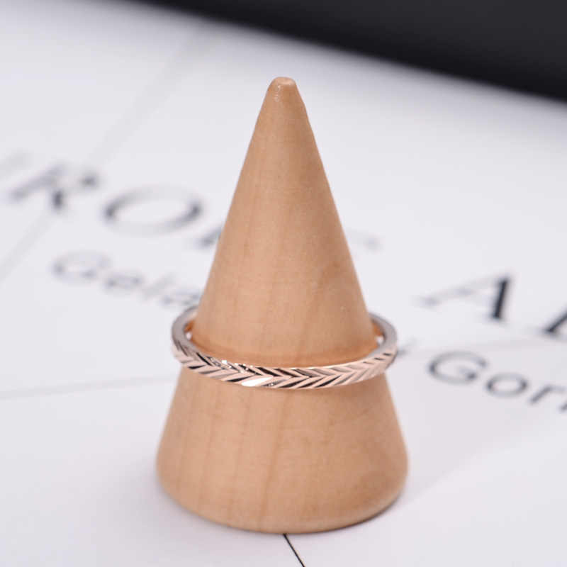YUN RUO Modern Simplify Rose Gold Color Tail Ring Lady's Birthday Gift for Woman Fashion Titanium Steel Jewelry Never Fade 2017