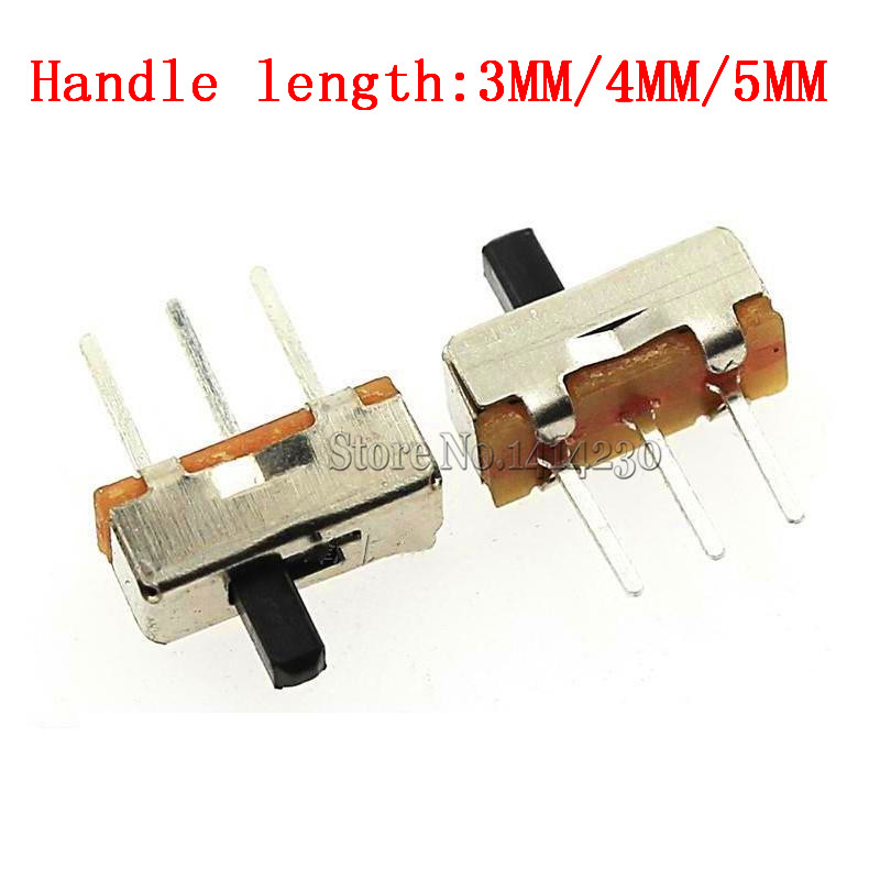 Interruptor On-off Mini Slide Switch SS12D00G5 SS12D00G4 SS12D00G3 3pin 1P2T 2 Position High Quality Toggle Switch Length:3-5mm