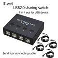 USB 2.0 Hub Mudar Sharing Manual 4 em 4 para fora teclado e mouse sharing switch compartilhamento de Impressora para Computador Grátis grátis