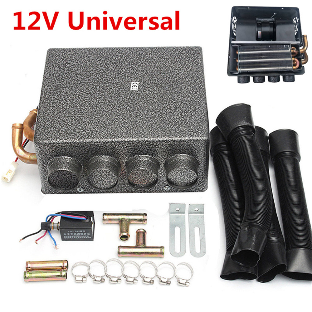 Vehicle Electronics & Gps 12v Universal Underdash Compact Heater 12pcs Pure Copper Tube Speed Switch Kit
