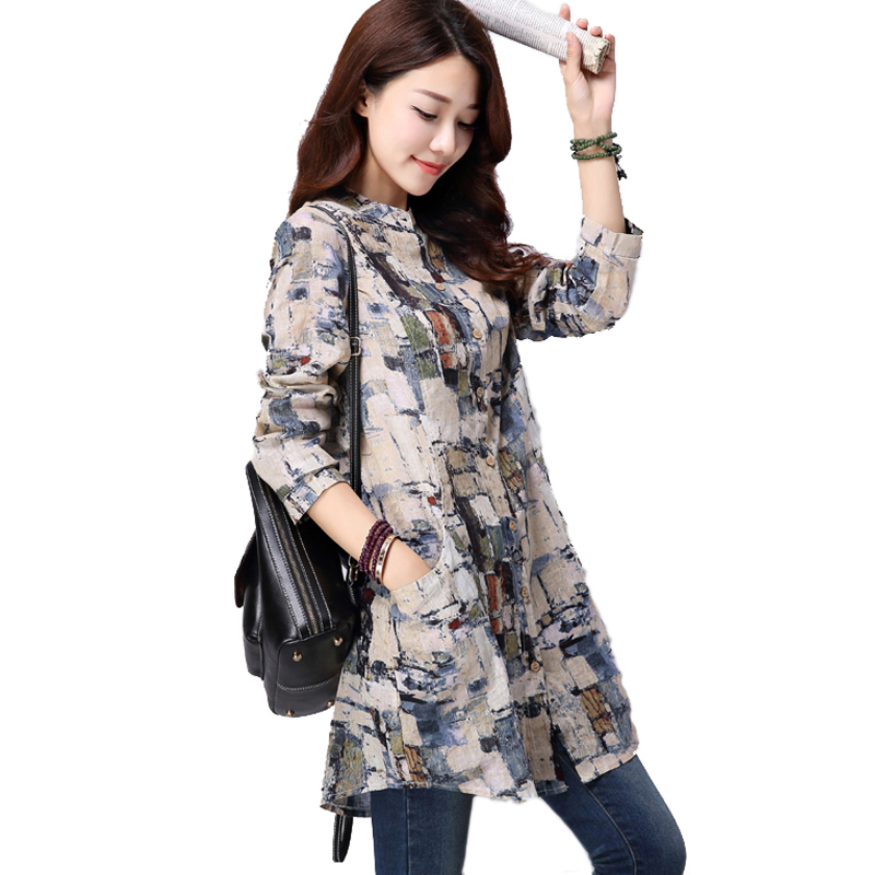 Female tops fall fashion 2017 long shirt brand new long sleeve blouse women blouses and shirts plus size blusas y camisas mujer