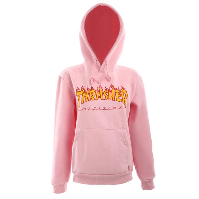 2017 Outono Inverno de Lã Cor De Rosa Trasher Hoodies Streetwear dos homens Skate Hip hop Hoody Thrasher Camisola Das Mulheres Dos Homens Suor XXL