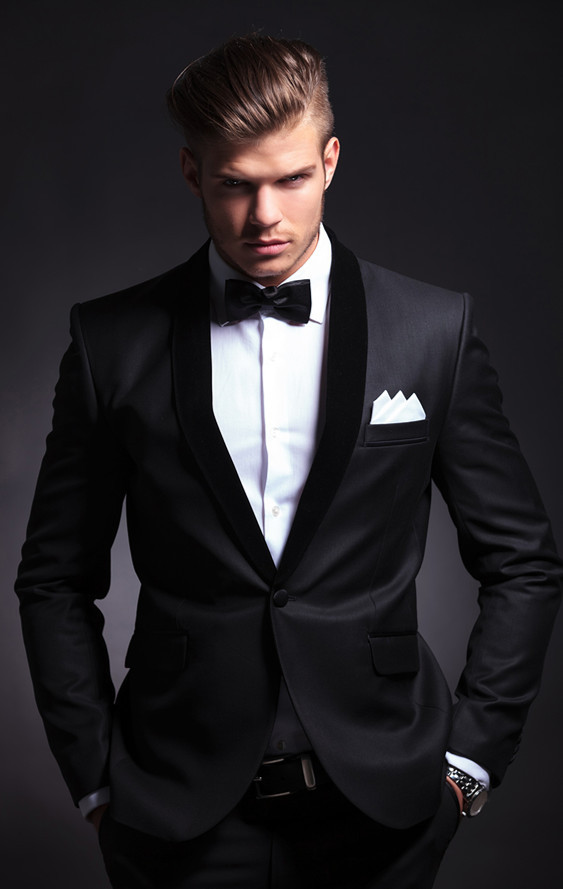 Mens Fashion Charcoal Men Suits Slim Fit Formal Custom Made Groom Prom Blaze Business Clothes 2 Piece Tuxedo Jacket +Pant Terno