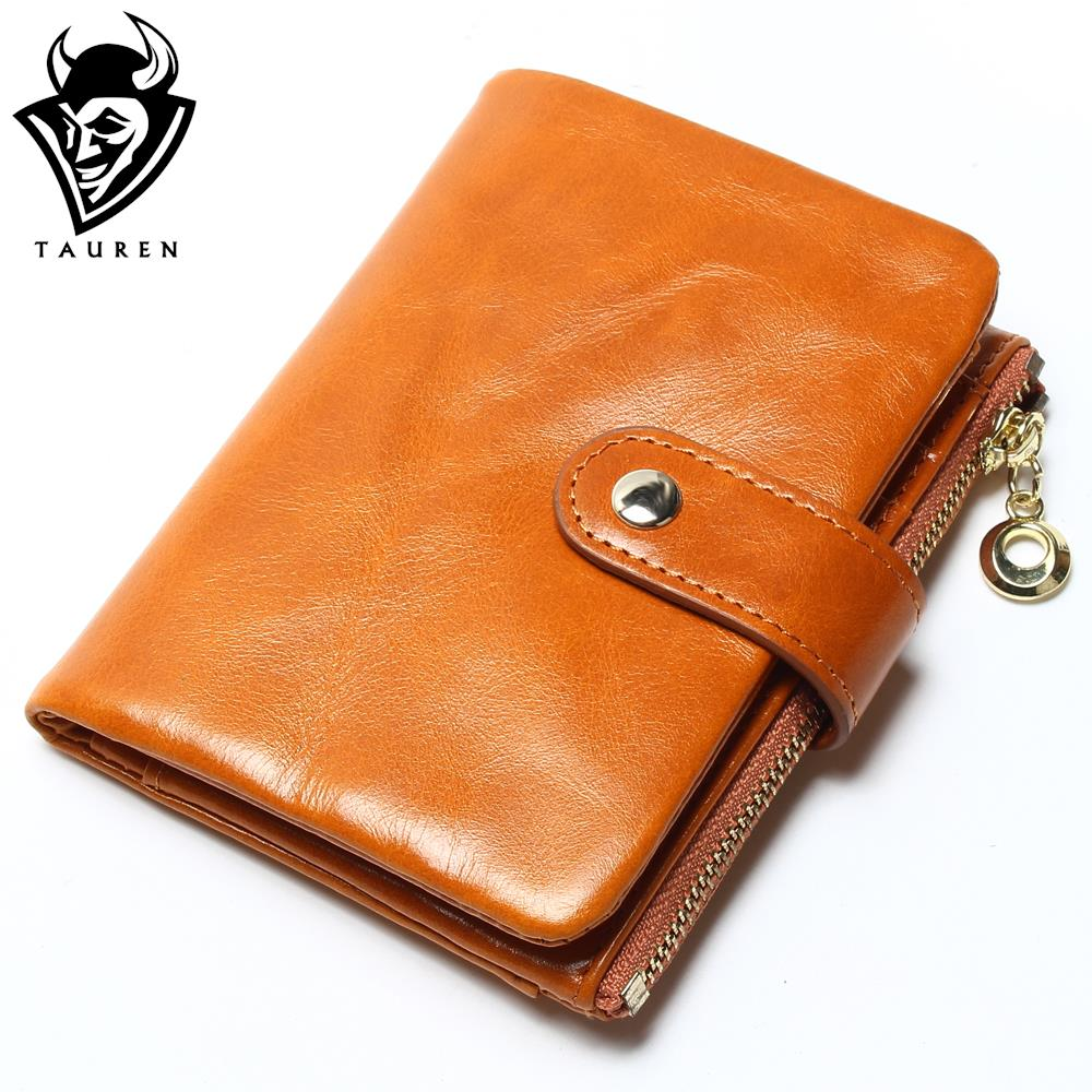 2018 Brand Design High Quality Women Genuine Leather Vintage Wallet Cowhide Coin Purse Oil Waxing Purses Zipper Pocket Wallets free shipping new women s wallet cowhide genuine leather wallet for women famous brand wallet plaid shape hot cute women purses