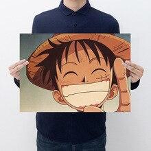 Anime une pièce Action Figure affiche artisanat Vintage papier Anime une pièce Luffy Ace Zoro Sanji affiches Luffy voulait des cadeaux pour garçons