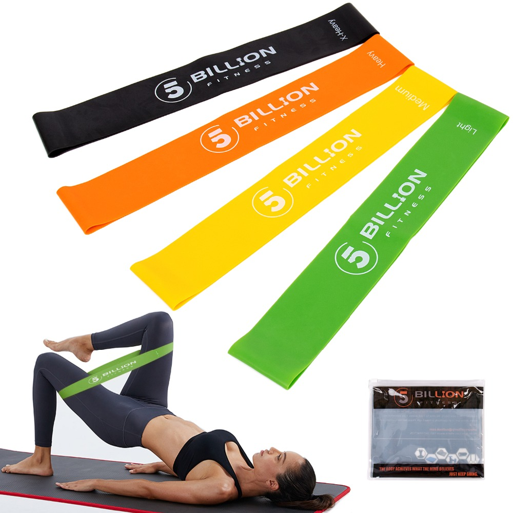 5Billion Resistance Band Set 4/5 Levels Nature Latex Gym Strength Training Workout Rubber Bands Fitness Equipment Carry Bag