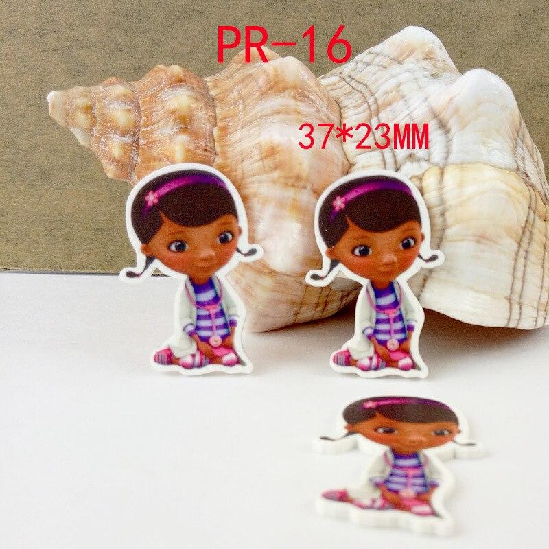 Cartoon patch kawaii Doc McStuffins Figurine crafts flat back planar resin DIY headwear hair accessories refrigerator