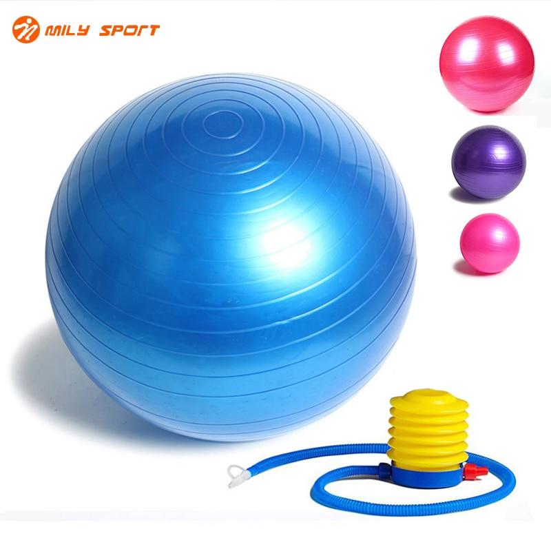 Фитнес йога мяч 85 см ровный баланс Фитнес тренажерный зал мяч с насосом баланса Пилатес тренировки шары ...