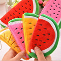 Lovely large capacity watermelon bag pencil bag small watermelon zero wallet stuffed toy wedding gift