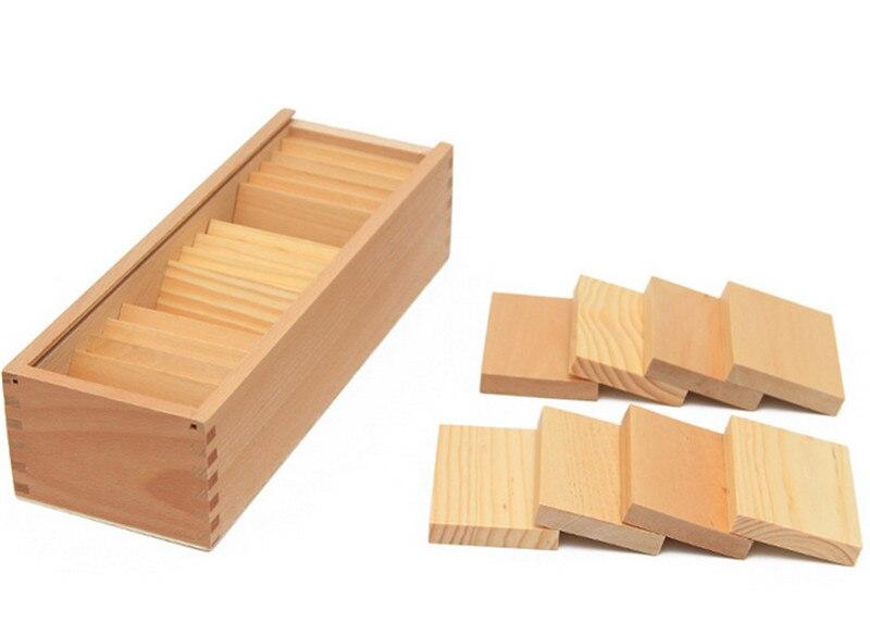 Nouveau jouet en bois Montessori poids conseil bébé jouet comprimés Baric avec boîte éducation de la petite enfance préscolaire formation apprentissage jouet