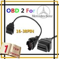New 38 Pin to OBD2 OBDII 16 Pin Car Diagnostic Adapter Cable for Ben, Free Shipping