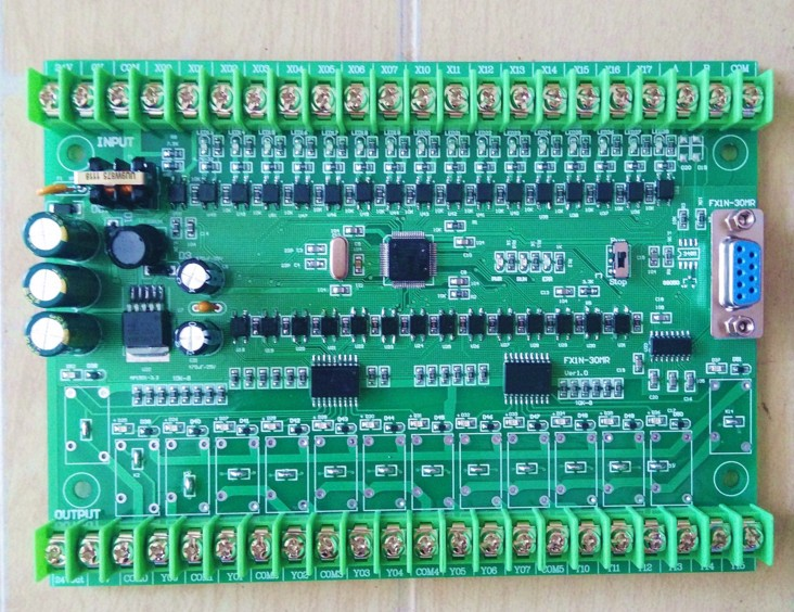 PLC Industrial Control Board Programmable Controller FX1N30MR 30MT Hold During Power Off Text 30MR PLC/30MT PLC