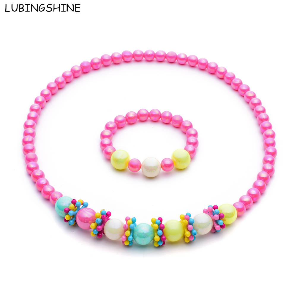 Lubingshine 2017 New Candy Color Handmade Children Beads