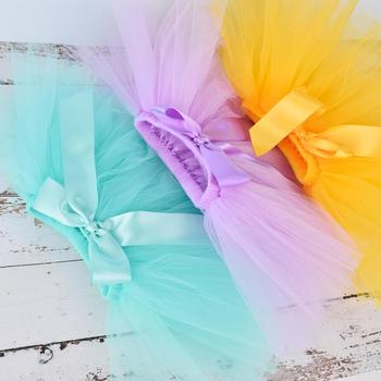 Newborn Baby Girls Tutu Skirt & Headband Set Newborn Photography Props Infant Fluffy Baby Tulle Skirt Set 0-12M 18 color options 1