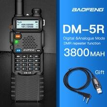 Baofeng DMR 5R presunto amador rádio em dois sentidos vhf/uhf banda dupla slot de tempo duplo walkie talkie 1024 ch nível i & ii compatível com moto