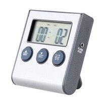 BARBECUE Thermomètre à Viande LCD Numérique Cuisson Thermomètre à Viande Sonde Plus Minuterie BBQ De Cuisine De Calibre Four Cuisson Des Aliments Thermomètre Minuterie