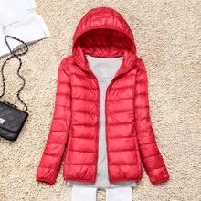 Women Down Jacket Winter Ultralight Woman Hooded Fashion Windbreaker Parkas Coat Plus Size Puffer Jackets