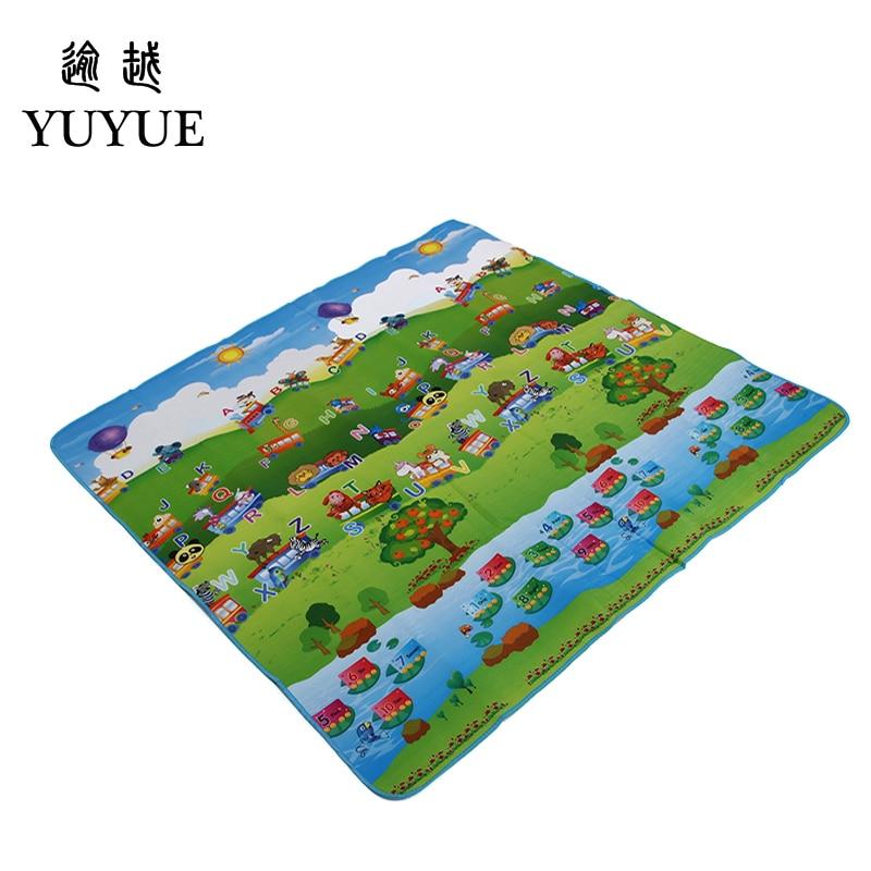 150*180cm waterproof aluminum picnic mat cartoon design for children climb mats baby crawls cushioning mat playmat 1