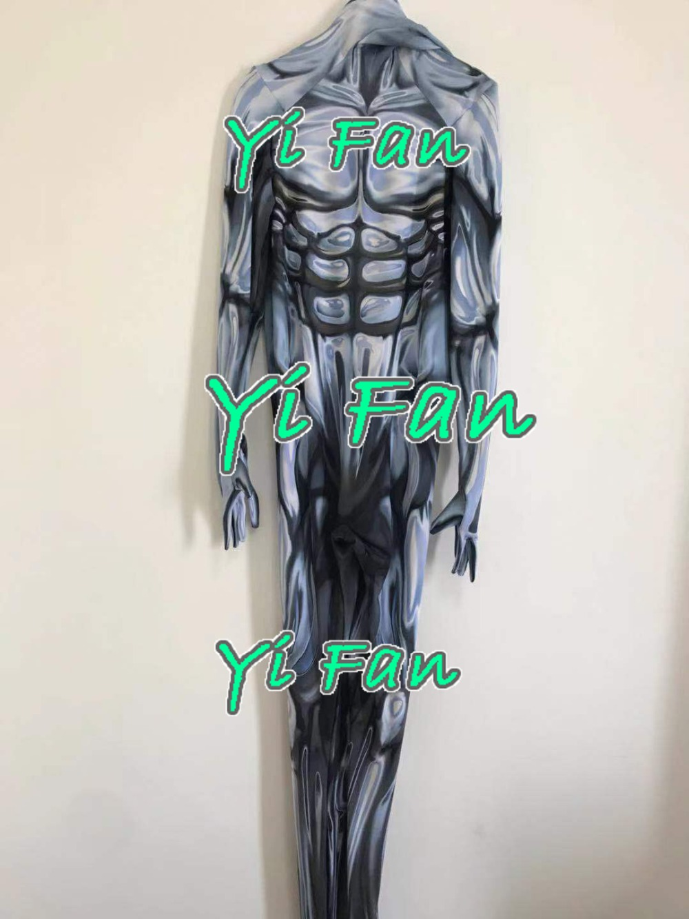 Silver Surfer Cosplay Costume 3D Printed Lycra Spandex Zentai Silver Surfer suit Halloween Catsuit Custom Made