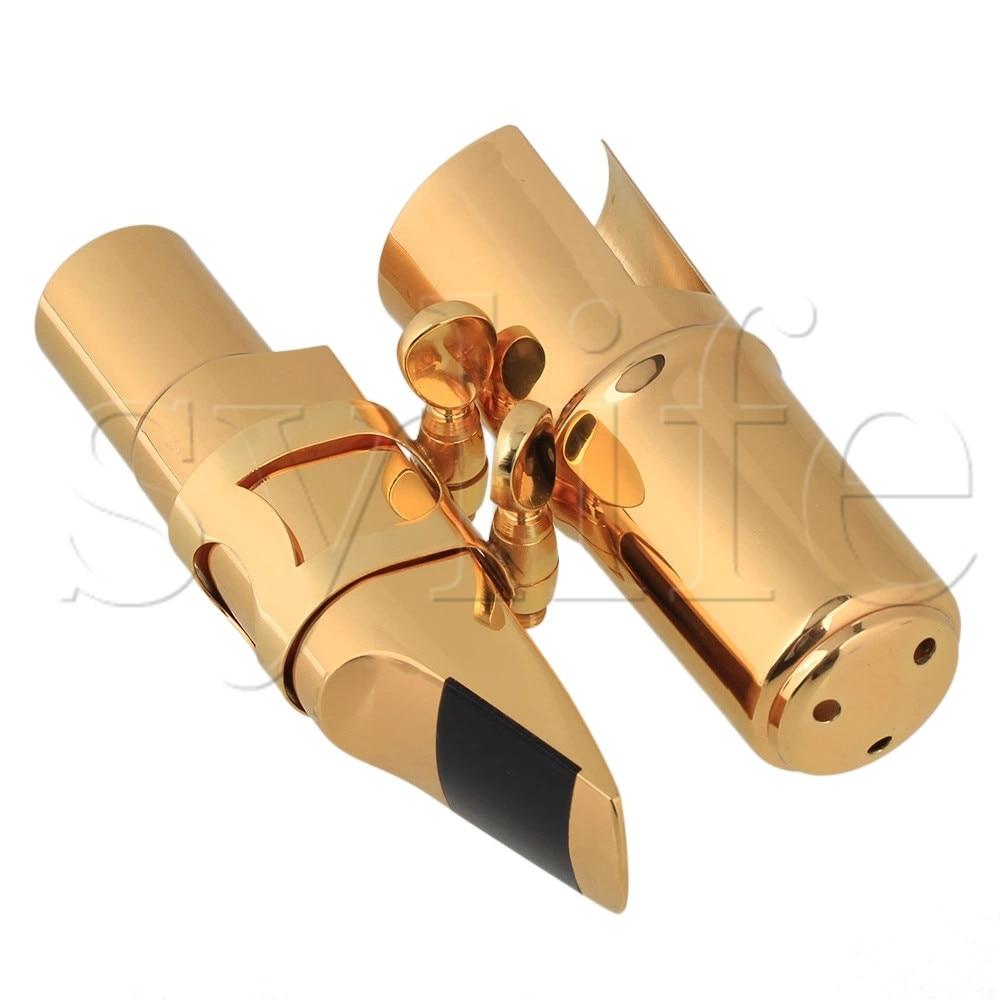 B-flat Tenor Saxophone Mouthpiece Cap Ligature  Gold plated 7# Good SoundB-flat Tenor Saxophone Mouthpiece Cap Ligature  Gold plated 7# Good Sound