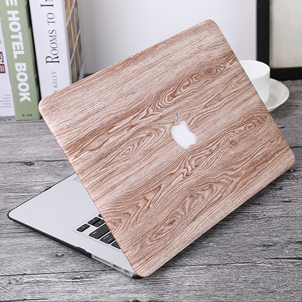 Laptop Case Wood Grain Computer Shell for Macbook Air Pro Retina 11 12 13 15 inch Exquisite Protector Vogue Notebook Conque soyan pu laptop sleeve envelope bag for macbook air pro retina 11 12 13 15