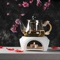 Керамический чайник в японском стиле  нагревательное кофейное устройство для подогрева чая  подставка для чайника